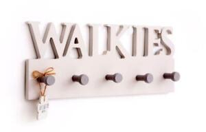 Walkies Wooden Dog Lead Leash Key Wall Hooks Hallway Storage Organiser