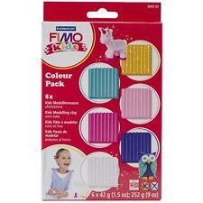 STAEDTLER FIMO KIDS 6 x 42 G Ragazze Colore Pack FORNO Tempra argilla Modellazione Soft