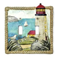 Lighthouse Decorative Wall Plate Switch Plate Beach Sailboat Seagull Resin