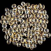 VVS 103 Pcs Natural Citrine 10mm/8mm AAA Quality Oval Checker Cut Loose Gems