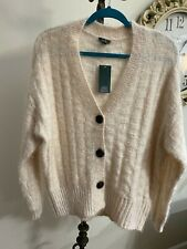 Wild Fable Size X-Small Beige Fuzzy Button Down knitted Sweater
