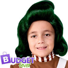 Oompa Loompa Wig Kids Fancy Dress Factory Worker Book Day Costume Accessory