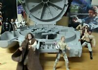 1997 Hasbro Star Wars POTF Millennium Falcon Carrying Case W/ 9 Figures Included