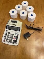 Canon P23 Dh Iii Printing Calculator With Power Adapter And 6 Rolls Of Paper