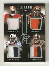2014 Limited quad 3 clr #d 13 / 25 !!Carlos Hyde,Jeremy Hill,Bishop Sankey,Sims
