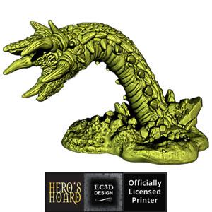 3D Printed Sand Worm model for Fantasy Tabletop RPG D&D