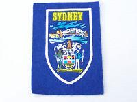 VINTAGE SYDNEY NSW AUSTRALIA SOUVENIR PATCH CLOTH SEW-ON BADGE