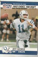 FREE SHIPPING-MINT-1990 PRO SET JEFF GEORGE COLTS ROOKIE  #669 PLUS BONUS CARDS