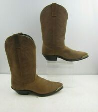 Ladies Brown Leather Western Cowgirl Boots Size : 9 M