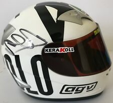 VALENTINO ROSSI HAND SIGNED CHE SPETTACOLO 1/2 SCALE HELMET MOTOGP 2004.