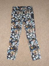 ZARA Ladies Flower Trousers Size UK 8 EU XS Summer Holiday