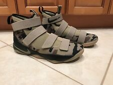 Nike Men's Size 12 Lebron Soldier XI 11 Camo Camouflage Green Army Rare