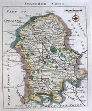 STAFFORDSHIRE  STAFFORD LITCHFIELD   BY JOHN ROCQUE GENUINE ANTIQUE MAP  c1769