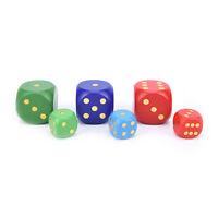 1X Big Size Wooden Dice Cubes 6 Side 50mm 30mm Children Toy Board Game AERDFU wr