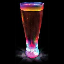 MULTI COLOURED STROBING LED PINT GLASS BEER DRINKING NOVELTY COLOUR CHANGING