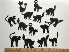 "25 - 2"" Black Halloween Cats Die Cut Punches Scrapbook Cards Journal Tags"