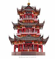 Piececool 3D Metal Puzzle Juyuan Tower Architecture Model Assemble Laser Jigsaw