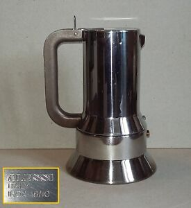 Caffettiera ALESSI 9090/6 - 6 tazze in acciaio - Designer Richard Sapper moka