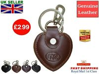 Love Heart Leather Keyring Fob Bag Charm Red Black Brown Dark Brown Boxed