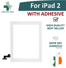 For Apple iPad 2 Touch Screen Digitizer Glass Home Button With Adhesive White