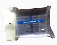 2x2 Coin Safe Flips 100 Thick 7mil 2 Pocket Unplasticized Vinyl Archival Holders