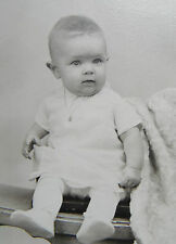 Antique Toburen Baby Photo in White Cabinet Card Photograph