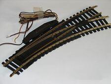 FLEISCHMANN ( 6047 R ) AIGUILLAGE ELECTRIQUE COURBE DROITE RAILS LAITON  HO