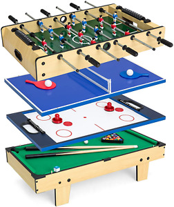 Best Choice Products 4-in-1 Multi Arcade Competition Game Table Set w/Pool