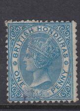 British honduras 1872 SG5a pale blue watermark inverted - mint no gum - Cat £350