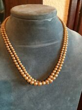 SALE! HALF PRICE! double strand Simulated pearl necklace