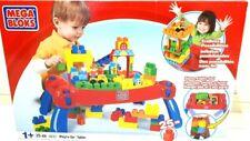 Mega Bloks Play n Go Table Red Blue Foldable 25pcs BN 8237 +120pcs ass cols