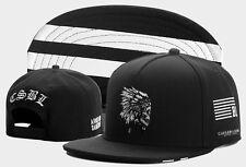 2016 New Men's bboy Hip Hop adjustable Baseball Snapback Hat Street cap Black 2#