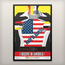 Motivational Inspirational Poster - Made in America - 24x36, mounted, framed