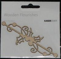Kaisercraft Wooden Flourishes 'CHRISTMAS' Santa/Star (You choose) *NEW* KAISER