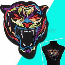 Colorido Tigre Cabeza Coser Sew Parche Bordado Insignia Tela Ropa Applique Patch