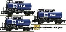 ROCO 56258; 3 ARAL Tank wagon DB Ep IV Optional wheelsets for Märklin gratis