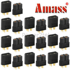 10-pair Amass Black XT60 Male & Female Connectors/Plugs/Sockets for Lipo Battery