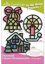 Anita Goodesign Stained Glass Ornaments Embroidery Machine Design Cd New 20Agpj