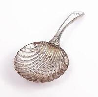 GEORGE III OLD SHEFFIELD PLATED SHELL CADDY SPOON c1790
