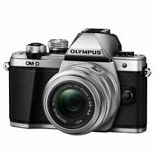 Olympus OM-D E-M10 Mark II Mirrorless Camera with 14-42mm IIR Lens - Silver