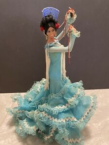 "Vintage Marin Chiclana Spanish Flamenco Dancer 13"" Blue"