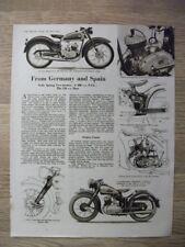 NSU 200 cc TWO STROKE - 26 JULY 1951 -  MOTORCYCLE MAGAZINE ADVERT 10 X 8 INS