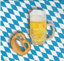 2 Serviettes papier Bière Bretzel Bavière Decoupage Paper Napkins Beer Pretzel