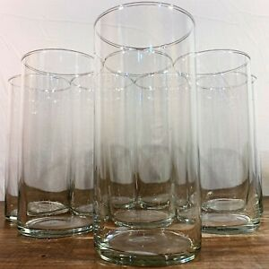 "Multiple Av: CRISA Clear Glass Hurricane CYLINDER 7-1/2"" VASE Bouquet Pillar Lot"