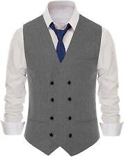 Men Herringbone Vest Tweed Waistcoat Classic Vintage Herringbone Wool Slim Fit++
