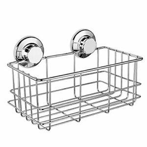 iPEGTOP Suction Cup Deep Shower Caddy Bath Wall Shelf for Large Shampoo Showe...