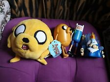 Adventure Time Finn, Jake, Nice Ice King & Gunther Figuras & Jake Paquete De Felpa