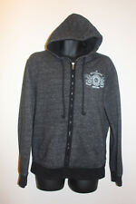 Jeans By Buffalo Men's Gray Full Zip Hoodie Cotton Blend Gray Size M Medium