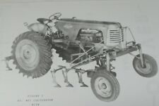 Oliver No 481 One Row Cultivator for High Clearance Tractor Super 88 Part Manual
