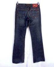 euc Lucky Brand Elle Jean USA made Boot Cut Denim Jeans Dark Wash 4 / 27